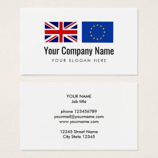 International services English European Union Business Card