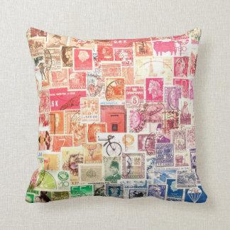 International Stamp Pillow Cushions