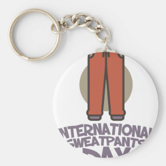 International Sweatpants Day - Appreciation Day Key Ring