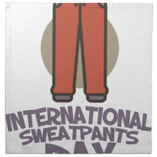 International Sweatpants Day - Appreciation Day Napkin