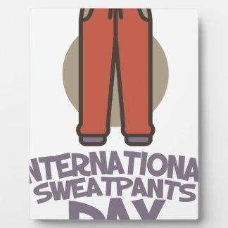 International Sweatpants Day - Appreciation Day Plaque