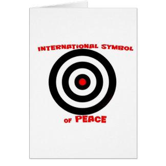 International Symbol of peace - Peace On Earth Greeting Card