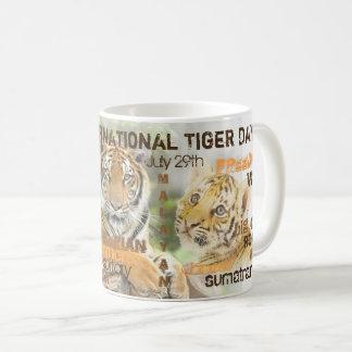 International Tiger Day, July 29, Typography Art Coffee Mug