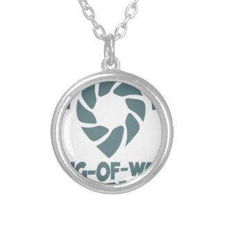 International Tug-of-War Day - 19th February Silver Plated Necklace
