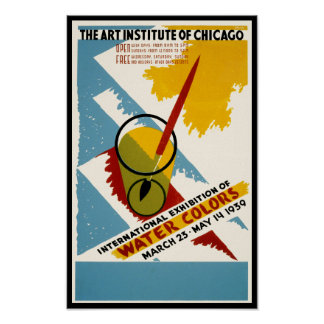 International Water Color Exhibition Poster