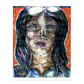 International Woman of Mystery Postcard