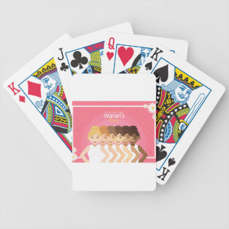 international Womens Day Bicycle Playing Cards