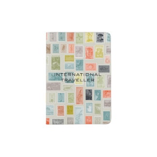 INTERNATIONAL WORLD WIDE DELIVERY STAMPED TEMPLATE PASSPORT HOLDER