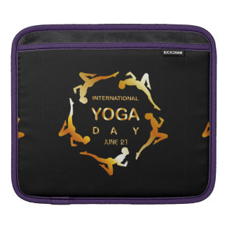 International yoga day june 21 iPad sleeve