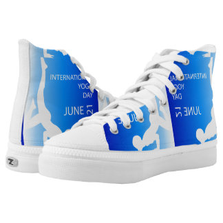 International yoga day june 21 printed shoes