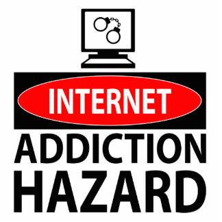 Internet – addiction hazard standing photo sculpture
