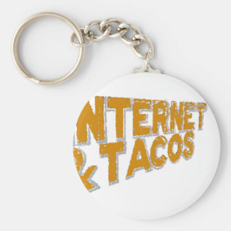 internet and tacos key chains