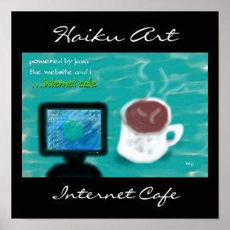 Internet Cafe Haiku Art Print