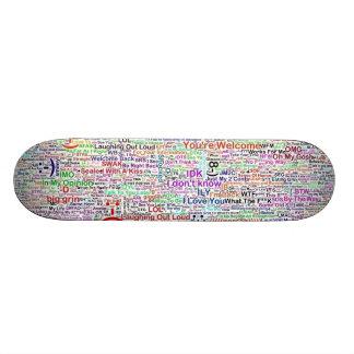 Internet Chat Lingo Art 21.6 Cm Old School Skateboard Deck