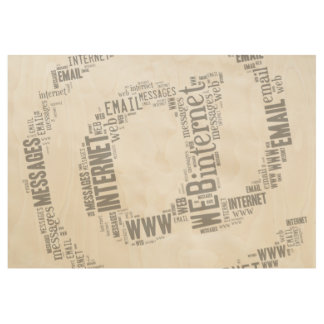 Internet Email Typed Text Symbol   Geek Gifts Wood Poster