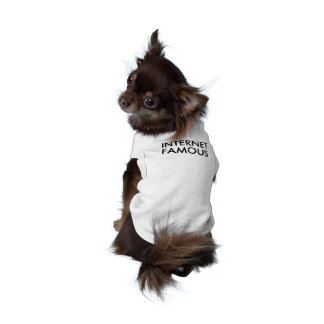Internet famous funny hipster puppy dog meme sleeveless dog shirt