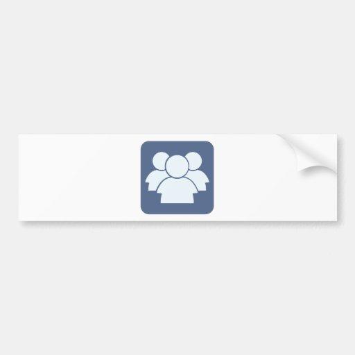 Internet Forum Icon Bumper Stickers