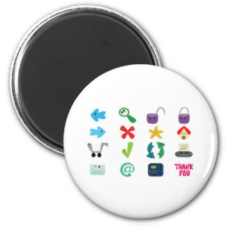 Internet Icons Refrigerator Magnet