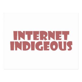 internet Indigenous Postkarte