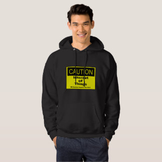 Internet of Things IoT Caution Warning Sign Hoodie
