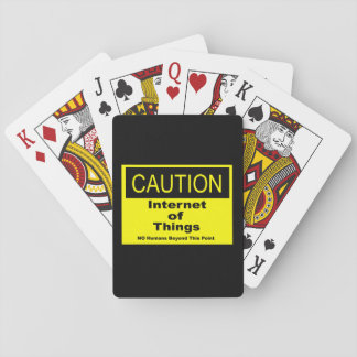 Internet of Things IoT Caution Warning Sign Playing Cards