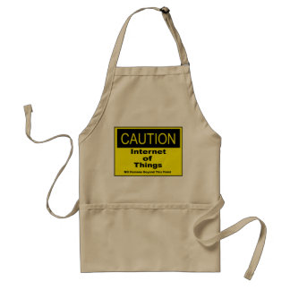 Internet of Things IoT Caution Warning Sign Standard Apron