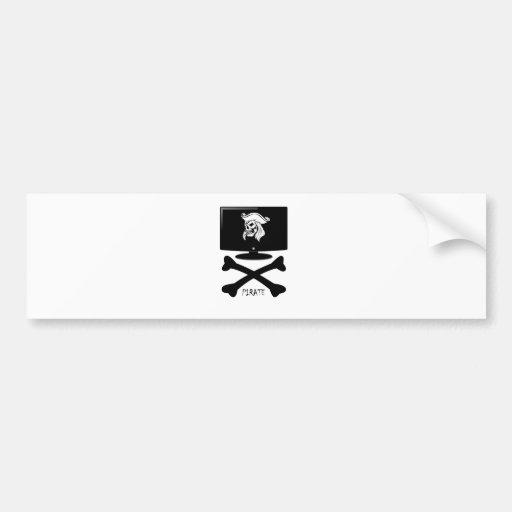 Internet Pirate Skull Shirt Bumper Stickers