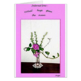 Internet romance card