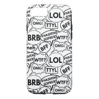 Internet Texting Pattern iPhone 7 Case