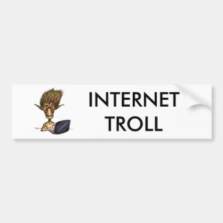 Internet Troll Bumper Sticker