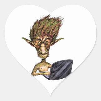 Internet Troll Heart Stickers