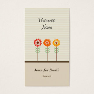 Internist - Cute Floral Theme Business Card