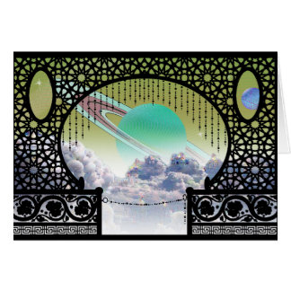 Interplanetary Travel Greeting Card