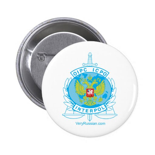interpol russia badge pinback buttons