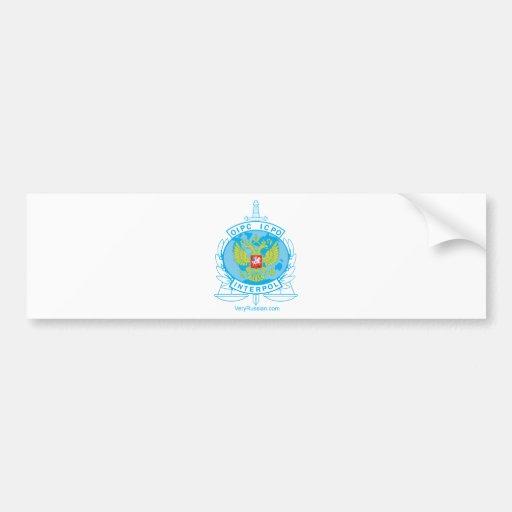 interpol russia badge bumper stickers