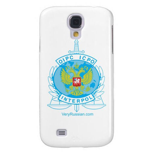 interpol russia badge galaxy s4 case