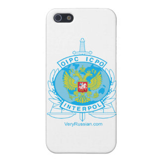 interpol russia badge case for iPhone 5/5S