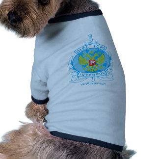 interpol russia badge doggie t shirt