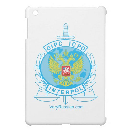 interpol russia badge iPad mini cases
