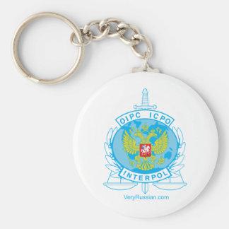 interpol russia badge keychains