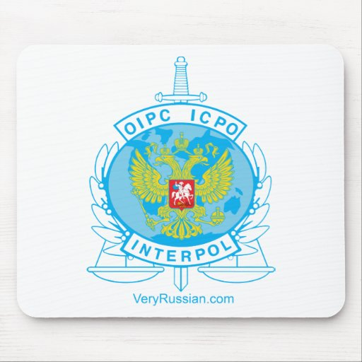 interpol russia badge mouse pads
