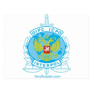 interpol russia badge post card