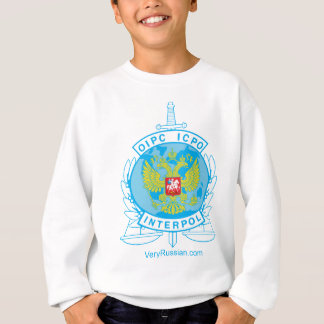 interpol russia badge sweatshirt