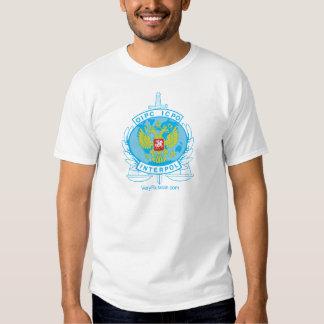 interpol russia badge t shirt