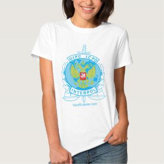 interpol russia badge tee shirts