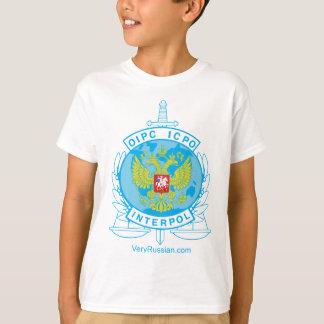 interpol russia badge tshirt