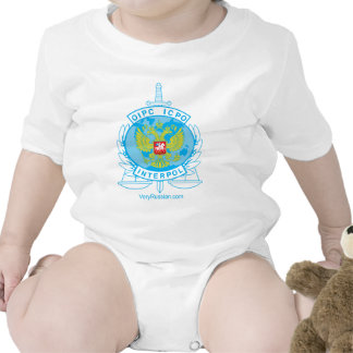 interpol russia badge baby bodysuits