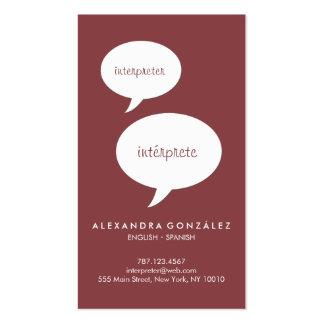 Snap freelance translator language interpreter business card zazzle 335 language interpreter business cards and language interpreter business card templates colourmoves