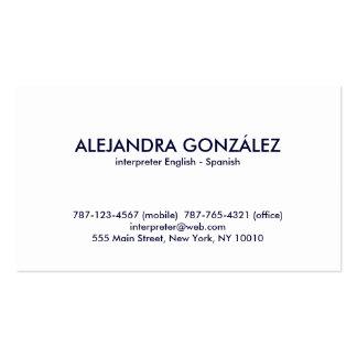 Interpreters Business Cards 1 700 Interpreters Busines