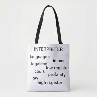Interpreter tote bag for all you mobility needs
